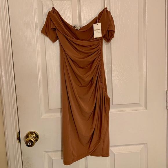 Forever 21 Dresses & Skirts - Knit Dress - Camel